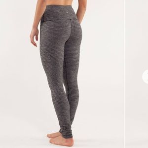 Lululemon Wunder Under High Rise Stripe Size 8